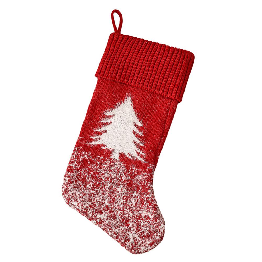 Christmas  Stocking Christmas Tree Snowflake Elk Kids Gift Candy Bag For Christmas Decorations Christmas tree