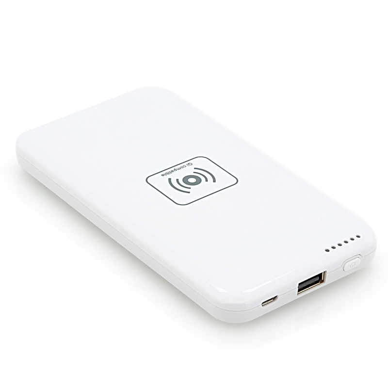 Portable Power Bank w/ 4800mAh + Qi Charging