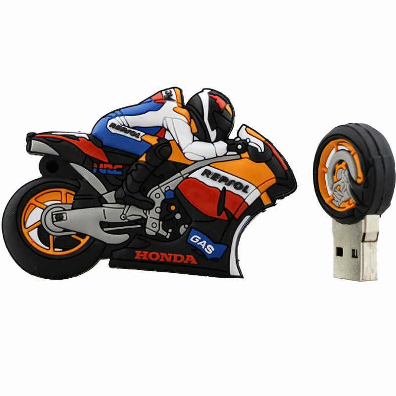 Motorcycle Design Flash Drive black_16G