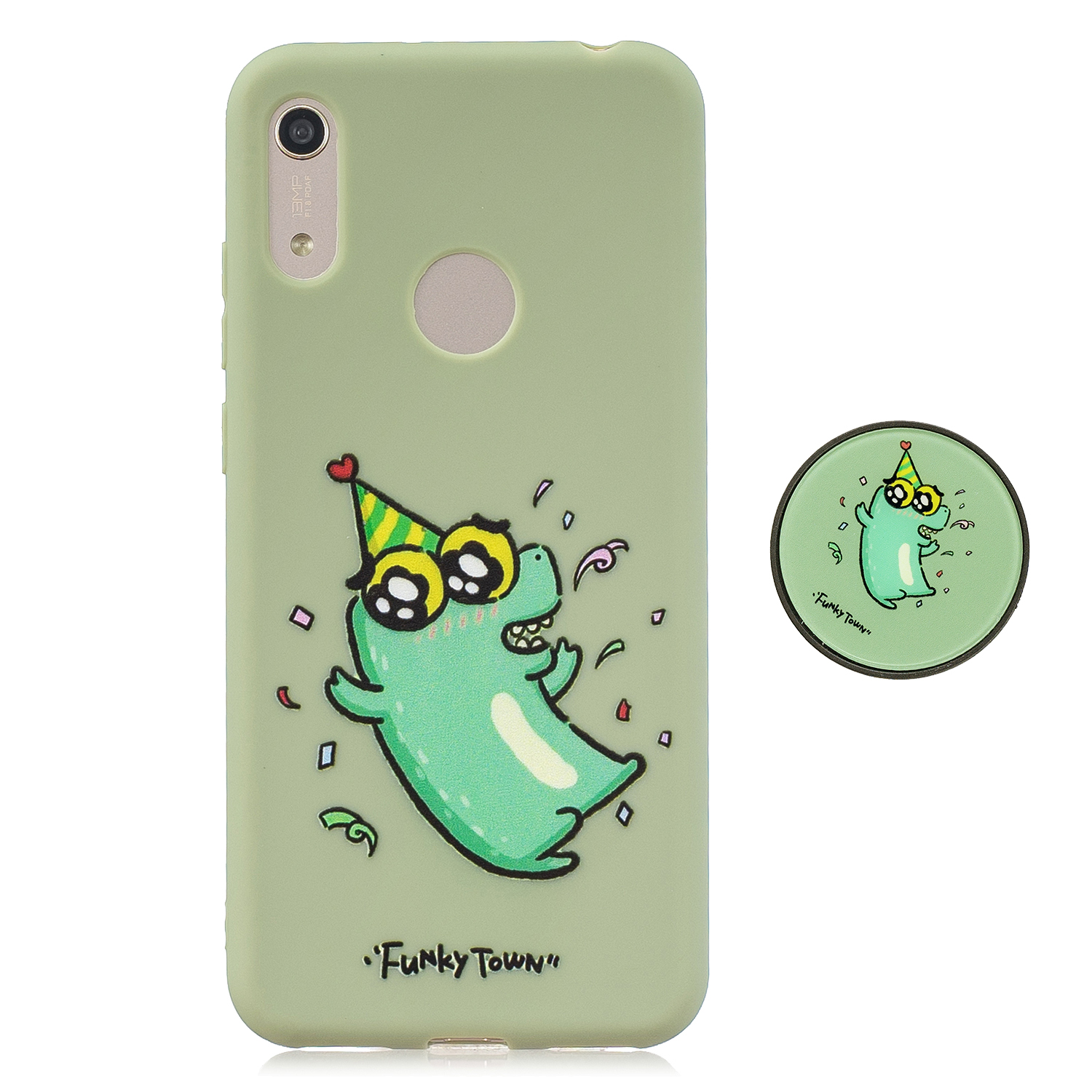 For HUAWEI Y6 2019 Flexible Stand Holder Case Soft TPU Full Cover Case Phone Cover Cute Phone Case 2