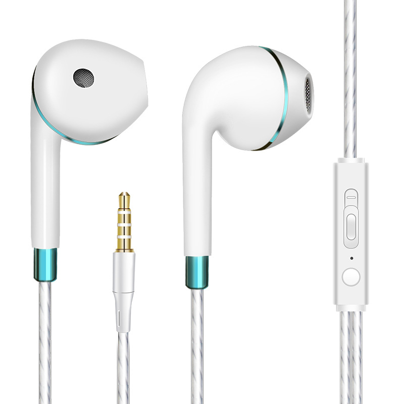 Bass Earphone with Microphone Wired for iphone Andriod Phone blue