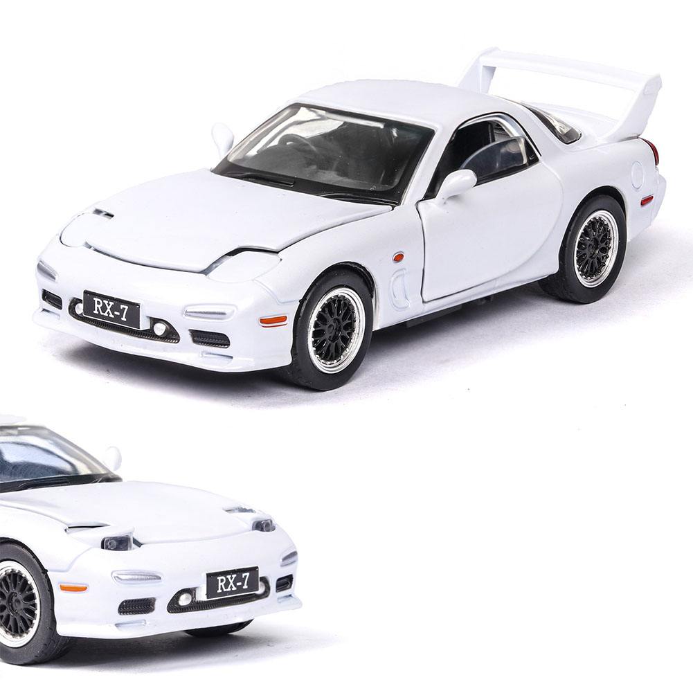 1:32 Simulation Sports Car Children's Racing Vehicle Toy with Sound Light Effect Delicate Christmas Gift white