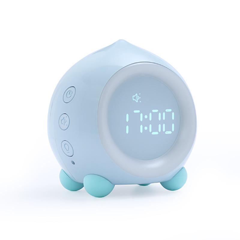 Portable Digital Alarm Clock with Led Light USB Charging Kids Bluetooth Speaker Snooze Clock blue_Bluetooth