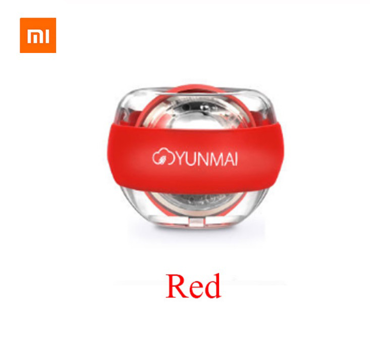 Original Xiaomi Mijia Wrist Trainer LED Gyroball Essential Spinner Gyroscopic Forearm Exerciser Gyro Ball red