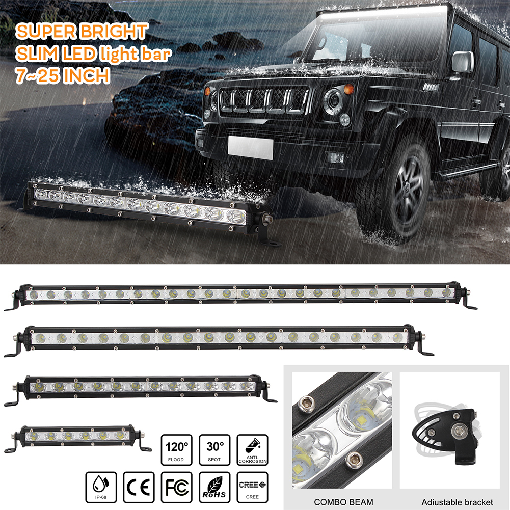 8inch Led Light Bar Super Thin Working Net Light for Car SUV  8 inches
