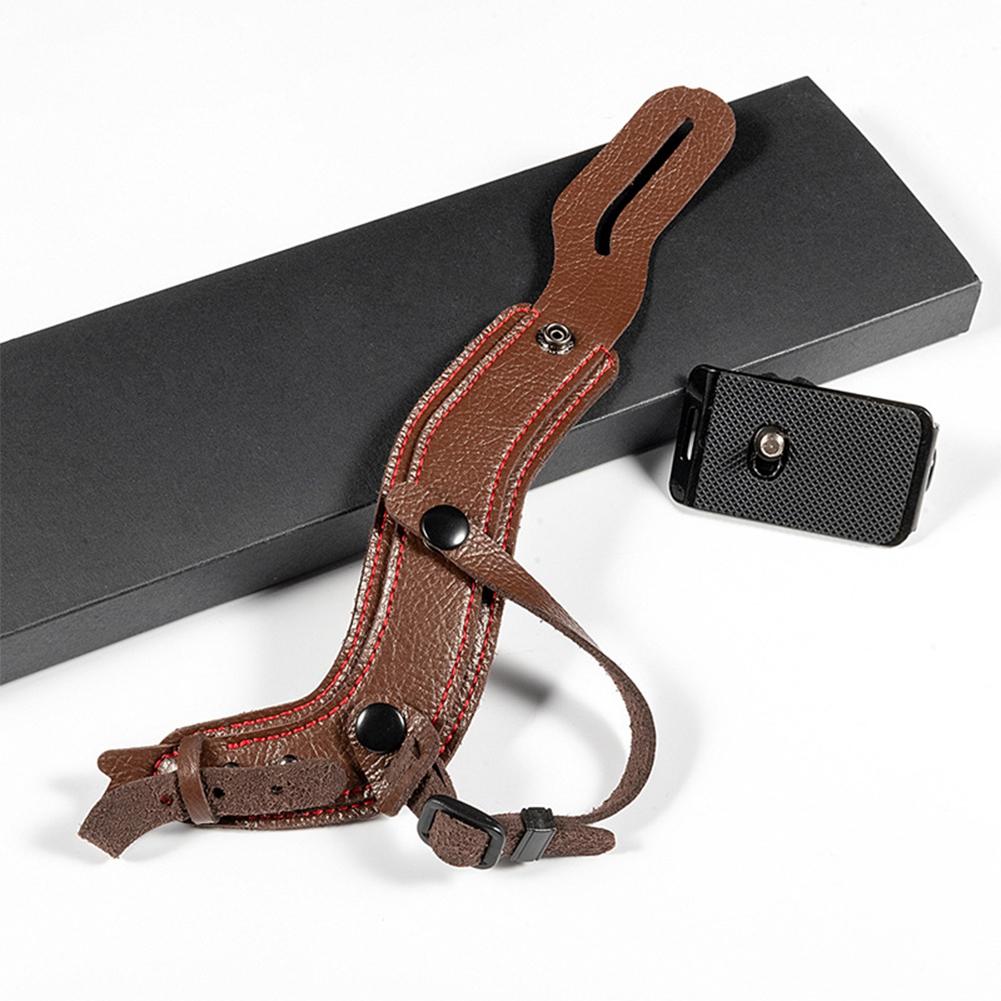 Camera SLR Camera Wrist Strap Anti-Drop Micro Single Wrist Strap for Sony a7r3 Nikon d800 brown