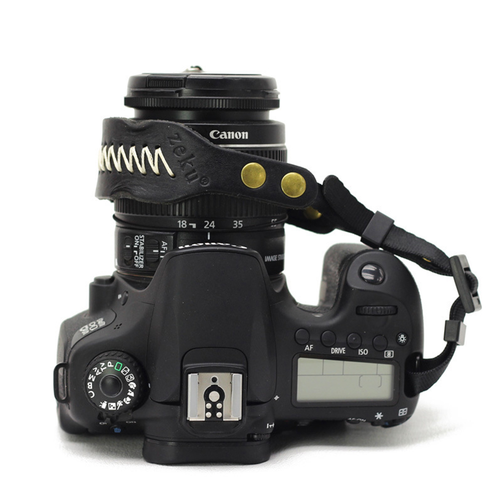 Digital Camera Strap Hand Wrist for Canon Nikon SLR DSLR Bracelet Belt Accessory black