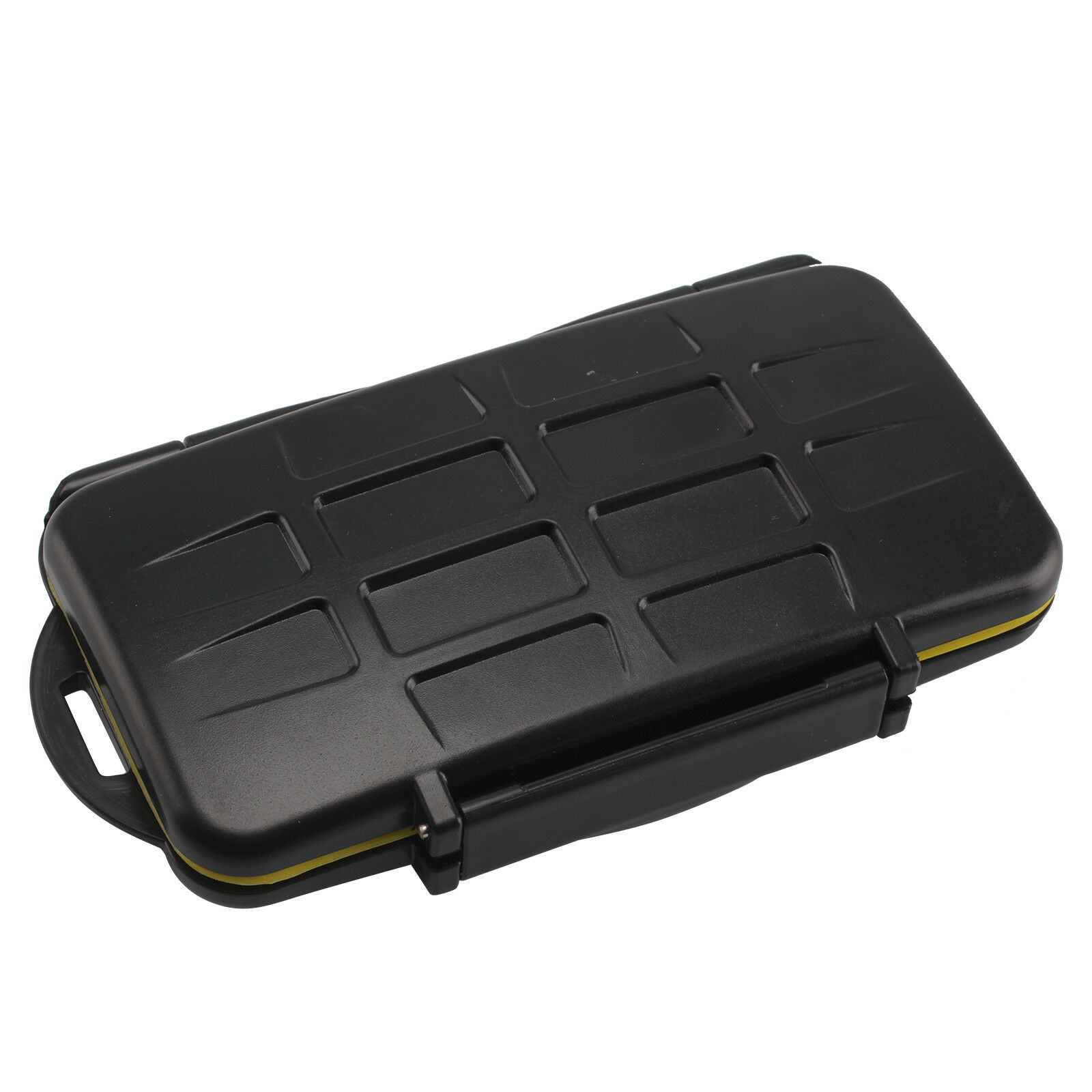 SD24 Memory Card Case Holder Water Resistant Storage Carrying Box black