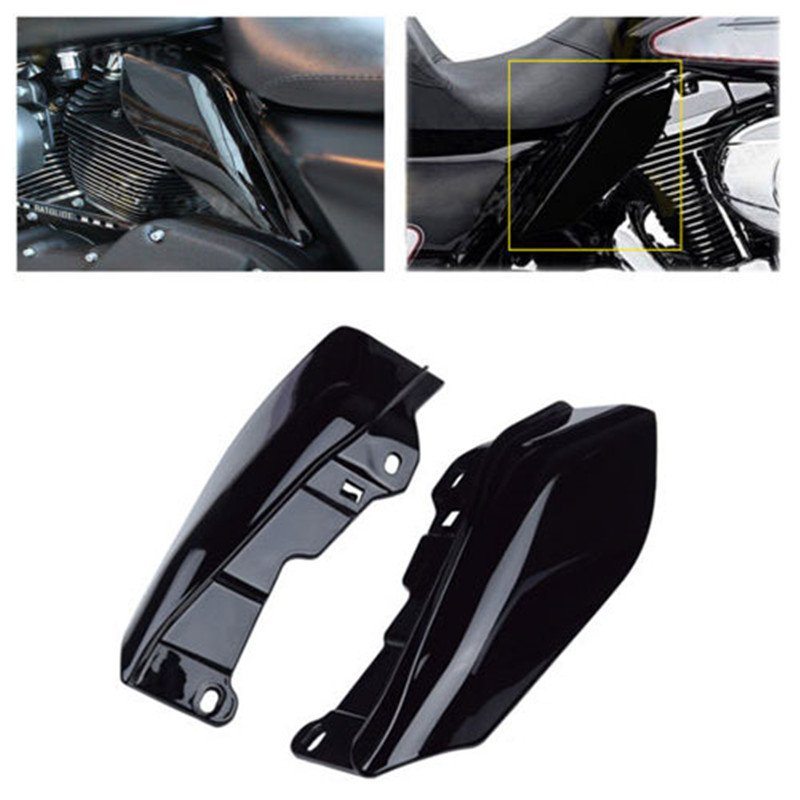 Motorcycle Mid-Frame Air Deflector Trim For  Touring Street Glide FLHX 09-16 black