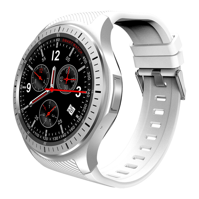 DOMINO DM368 3G Smartwatch - Quad-Core CPU, 1 IMEI, Bluetooth 4.0, Android OS, 3G, 8GB Storage, 400mAh Battery (White)