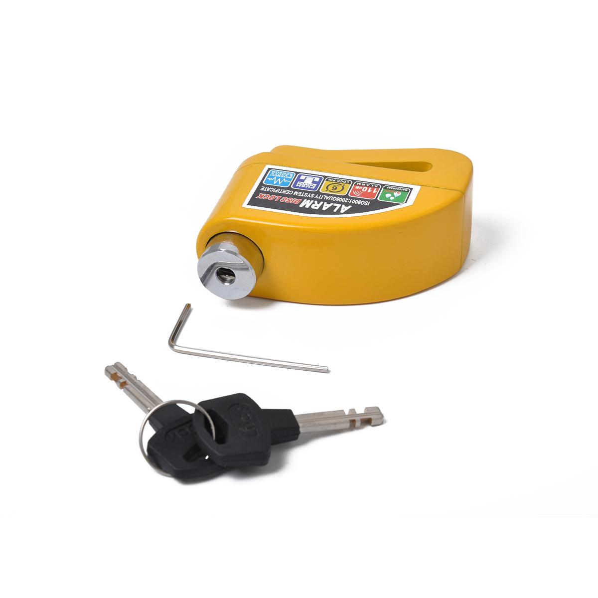 Waterproof Motorcycle Lock Bike Lock Security Anti-theft Lock Moto Disc Brake Lock Kit Yellow-aluminum alloy disc brake lock