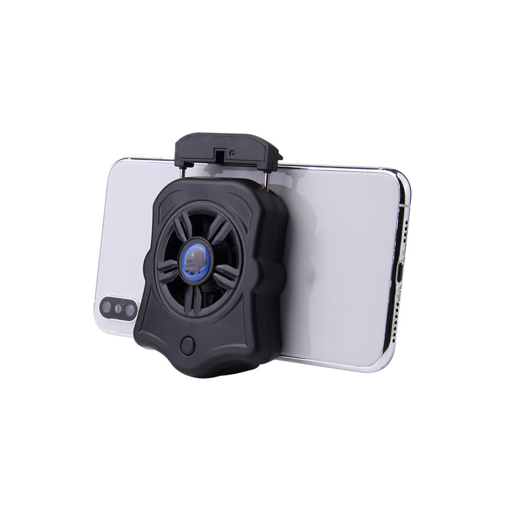 Phone Cooler For Gamer Adjustable Fan Holder Cooling Pad Mobile Cooler Radiator Heat Sink black