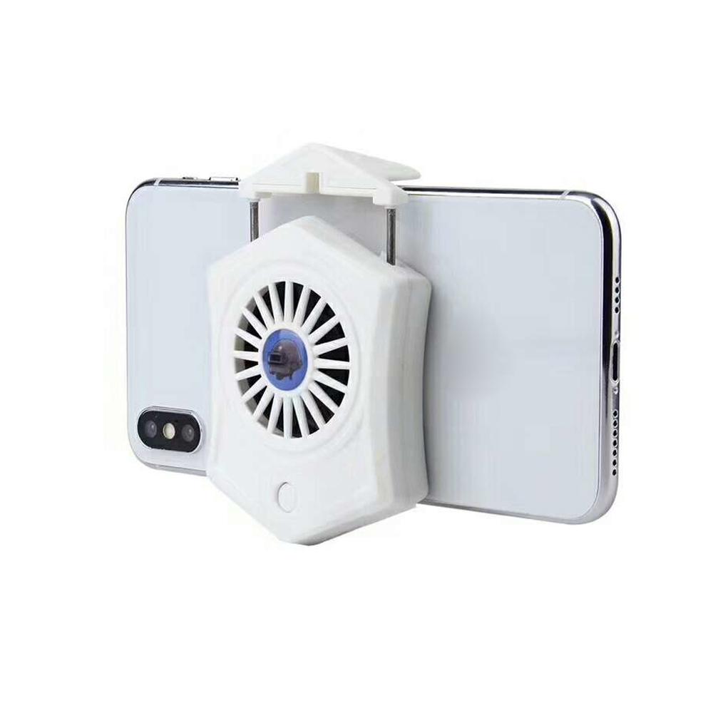 Phone Cooler For Gamer Adjustable Fan Holder Cooling Pad Mobile Cooler Radiator Heat Sink white
