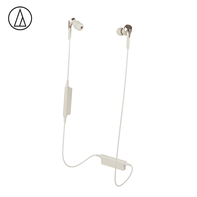 Original Audio-Technica ATH-CKS550XBT Bluetooth Earphone Wireless Sports Headset Compatible With IOS Android Huawei Xiaomi Oppo Cellphone Gold