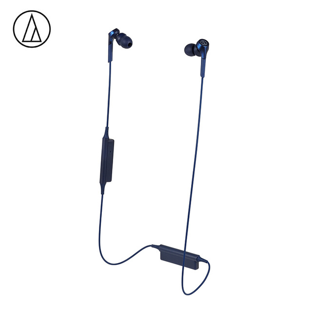 Original Audio-Technica ATH-CKS550XBT Bluetooth Earphone Wireless Sports Headset Compatible With IOS Android Huawei Xiaomi Oppo Cellphone Blue