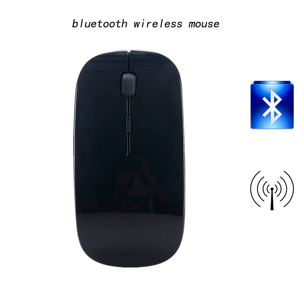 2.4G Mini Portable Laptop Computer Wireless Four-way Roller Game Mouse Bluetooth Office Business Mouse black_2.4G wireless + Bluetooth