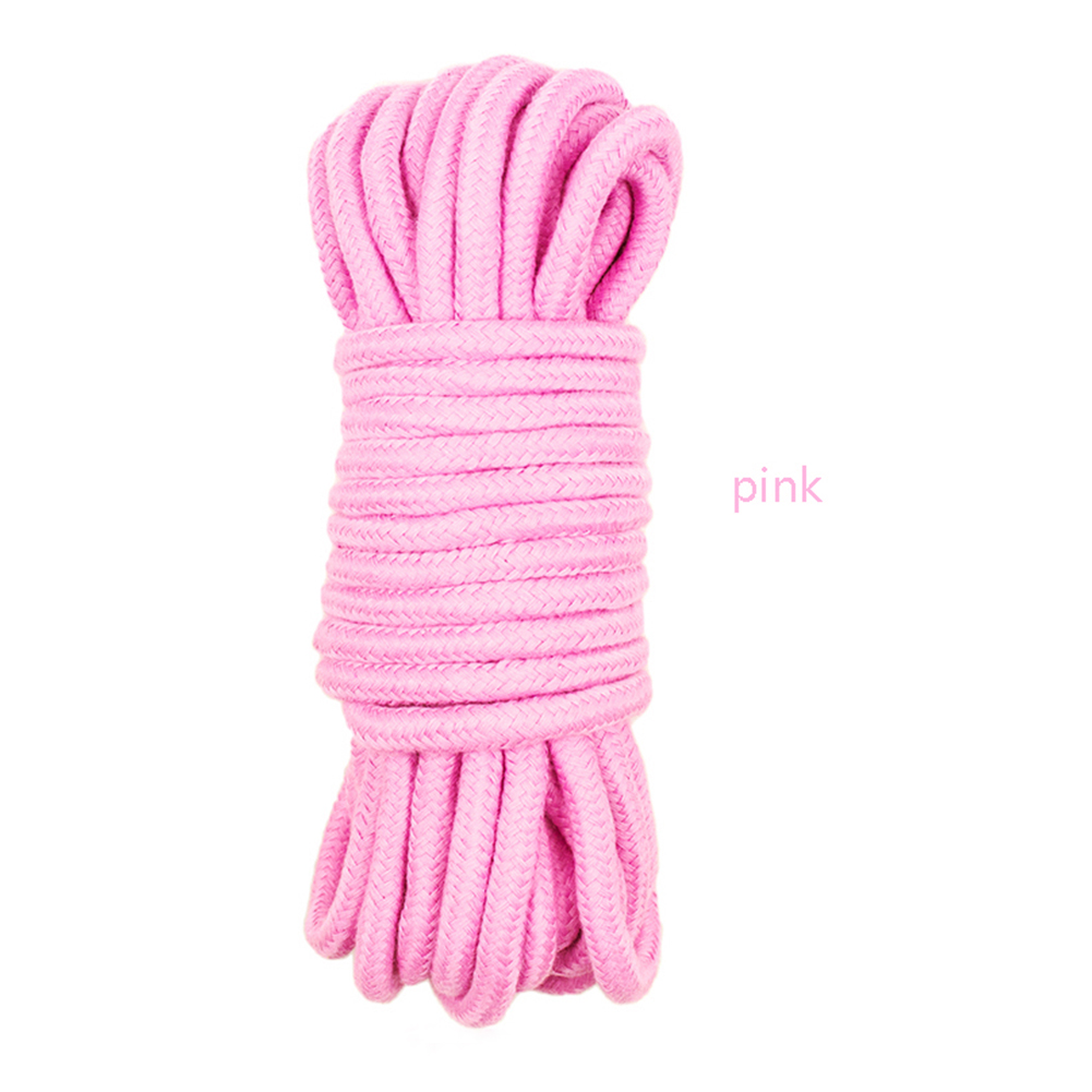 5/10M Bondage Rope Long Thick Cotton Bdsm Body Tied Ropes SM Slave Game Restraint Products Adult Sex Toys for Men Woman Couples Pink