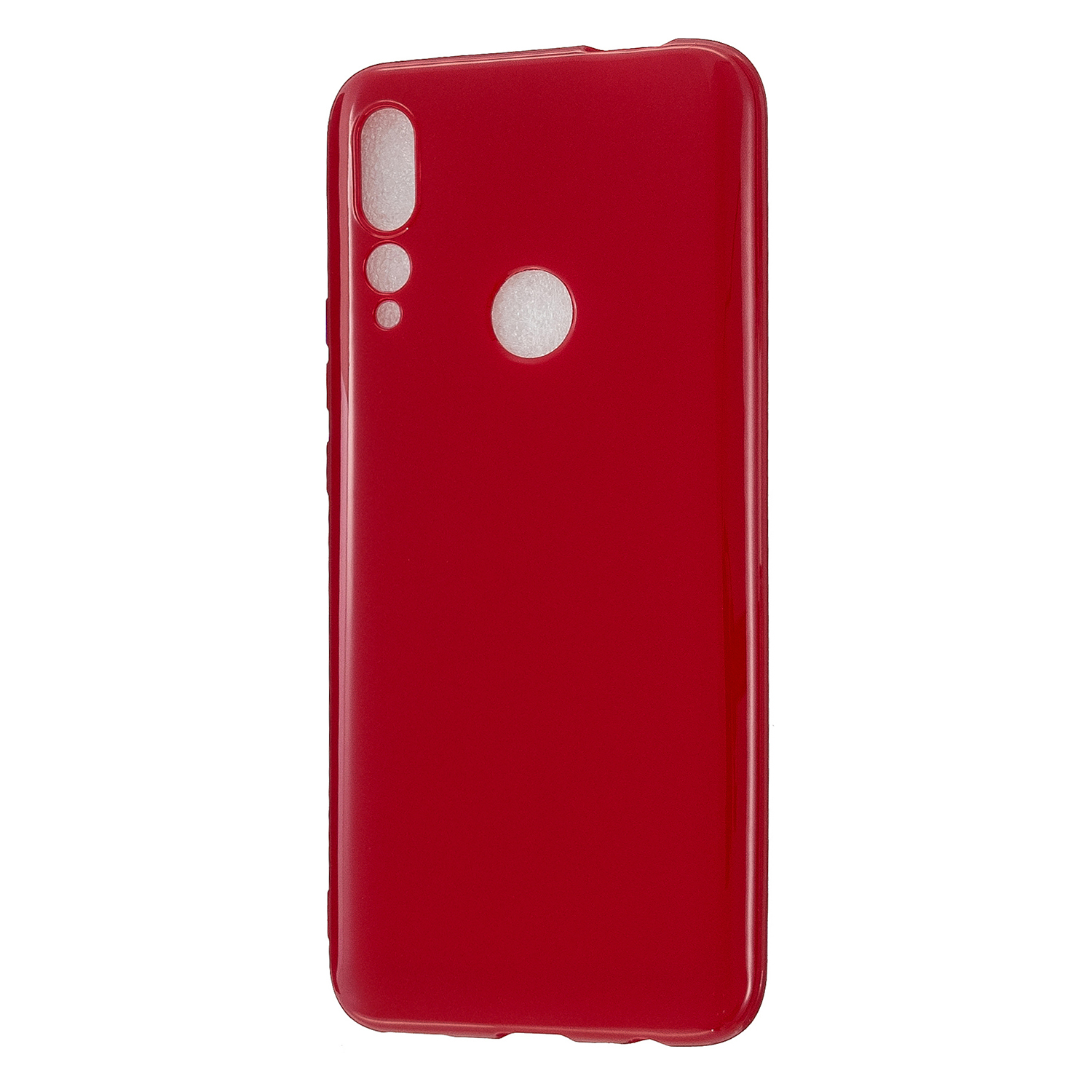 For HUAWEI Y9/Y9 Prime 2019 Cellphone Shell Glossy TPU Case Soft Mobile Phone Cover Full Body Protection Rose red