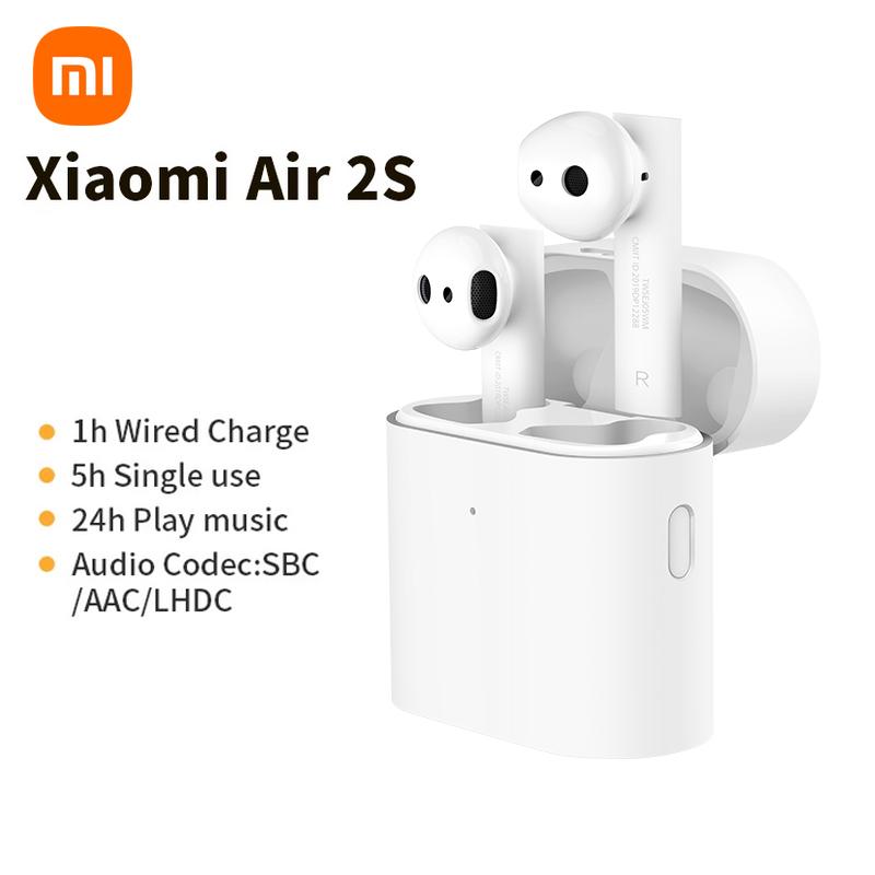 Original Xiaomi Air 2S True Wireless Bluetooth 5.0 Earphones Enc Smart Noise Reduction Type-c Charging In-ear Earphones White