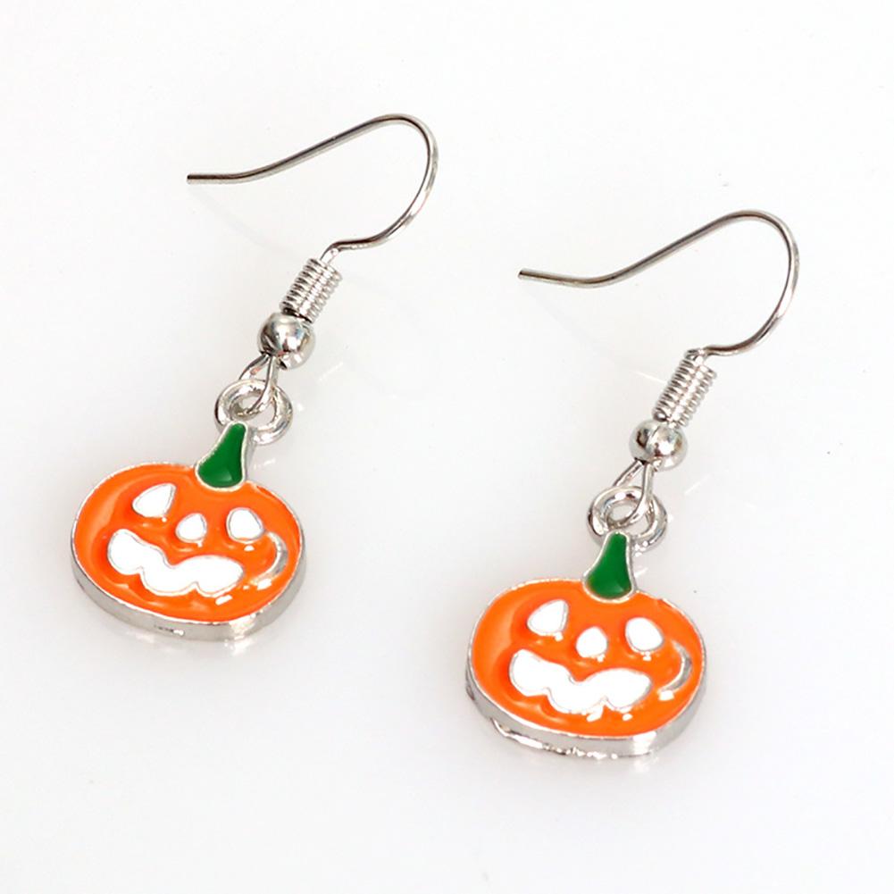 Punk Jewelry Halloween Pumpkin Earrings New Funny Bat Spider Halloween Earrings pumpkin