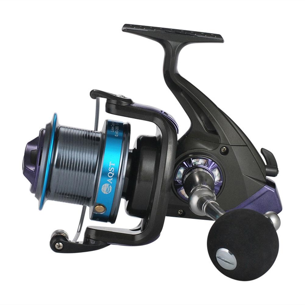 Long Shot Large Wire Cup Fishing Wheel 12+1 Fishing Reel  AQ9000 blue