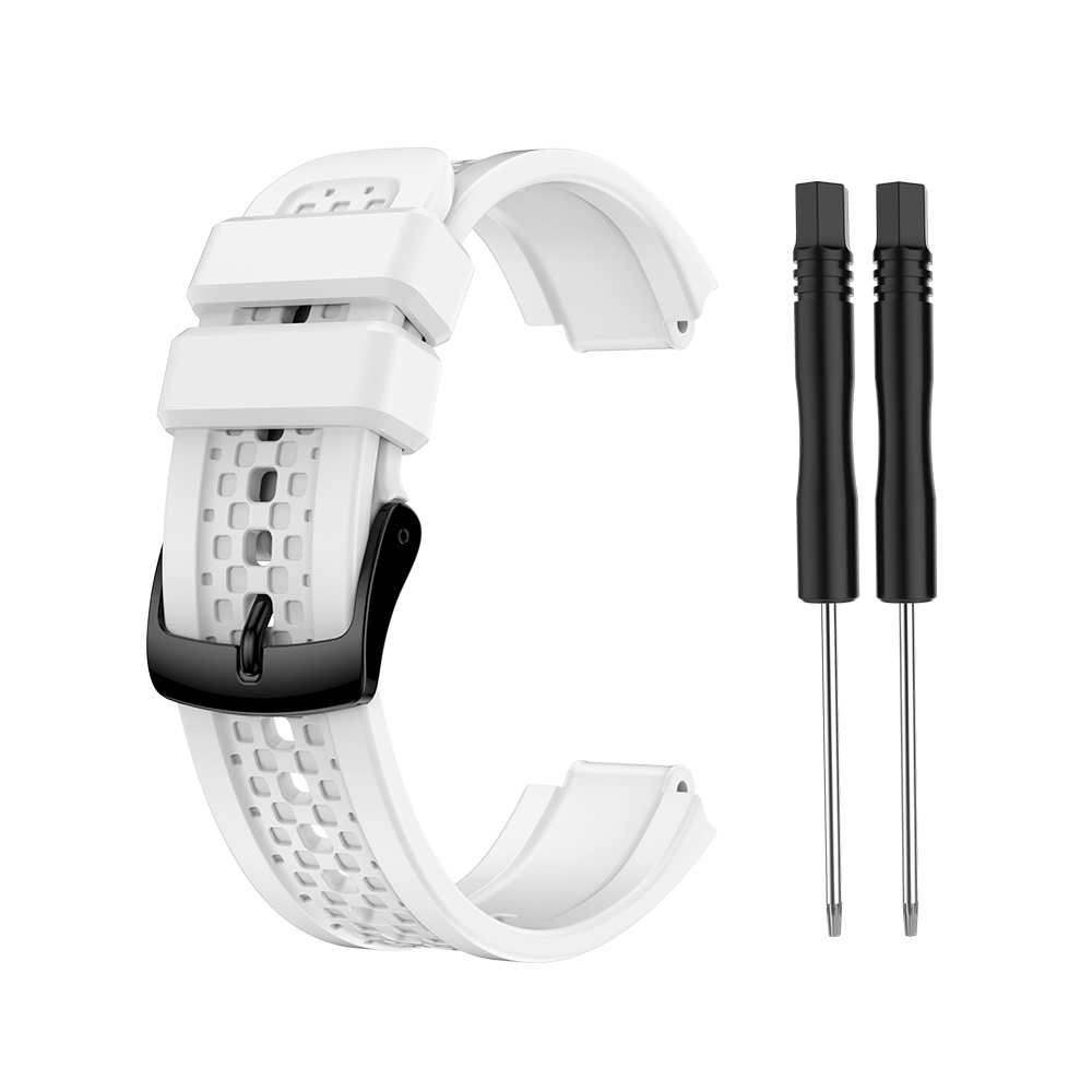 Women's Silicone Wristband Large Size Replacement Wristband for Garmin Forerunner 25 white