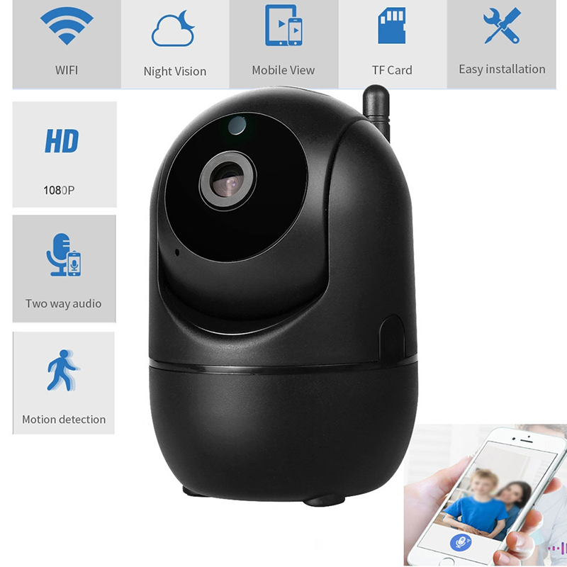 Hd Ip Camera Wifi Auto Tracking Camera Baby Monitor Night Vision Security Home Surveillance Camera 720P English version