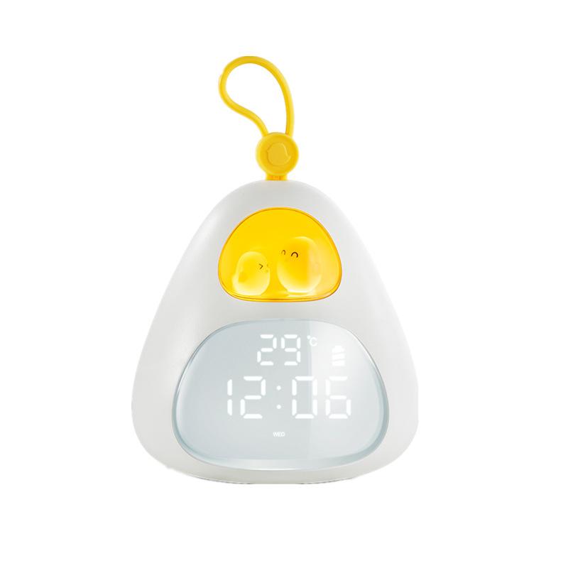 Bird Nest Sahpe Alarm  Clock Usb Charging Timer Led Sleeping Alarm Clock For Bedroom white
