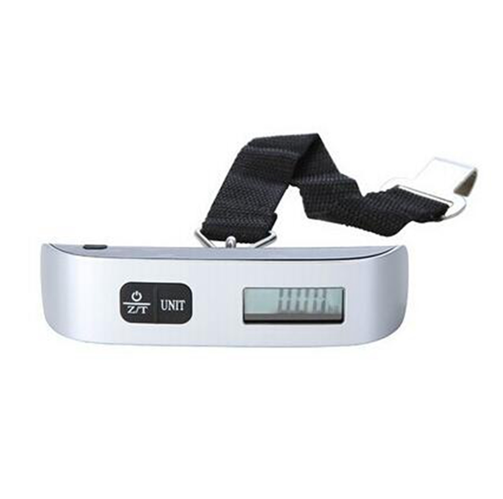 Digital Luggage Scale with LCD Backlight Portable Best for Travel (Silver)