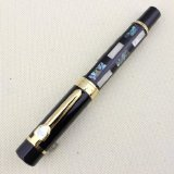 With Real Sea Shell Luxury Fountain Pen Jinhao 650 Black 18kgp Medium Nib Great Wall