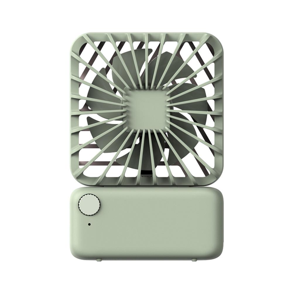 USB Charging Fan Square Small Fan Mini Mute Cute Handheld Portable Hanging Neck Electric Fan green