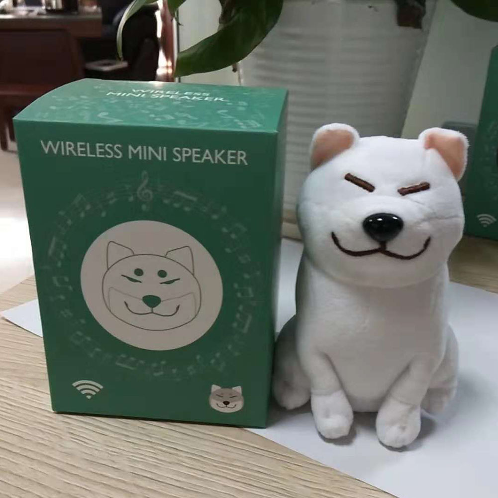 Cute Cartoon Plush Dog Wireless Bluetooth Speaker Stereo Super Bass Subwoofer Home Decoration Christmas Gifts