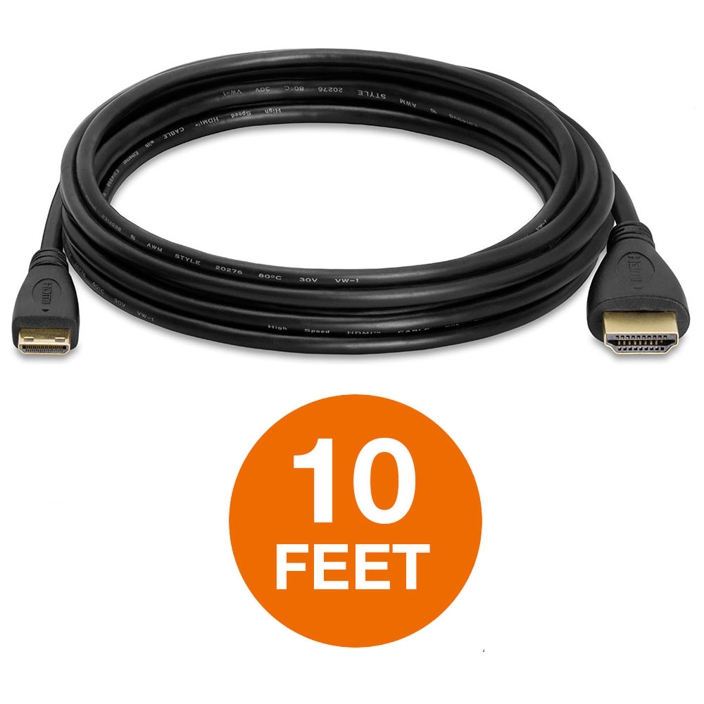 High-Speed Mini HDMI to HDMI Cable Adapter