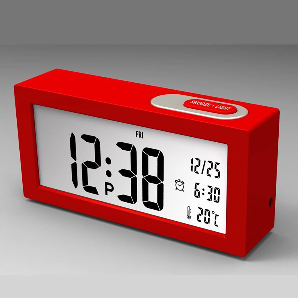 Electronic Digital Wall Clock With Temperature Display Home Clocks red