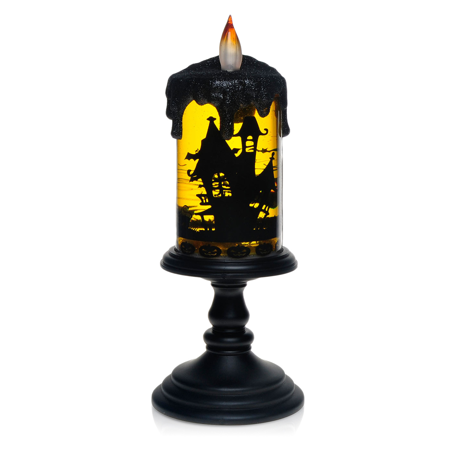 LED Plastic Electronic Simulation Candle Lamp for Halloween Bar Decoration  Bats are not timed