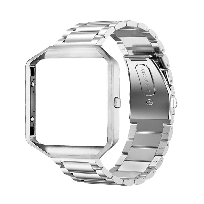 Stainless Steel Wrist Band Classic Bracelet Elegant Strap Frame for Fitbit Blaze Smart Watch  Silver