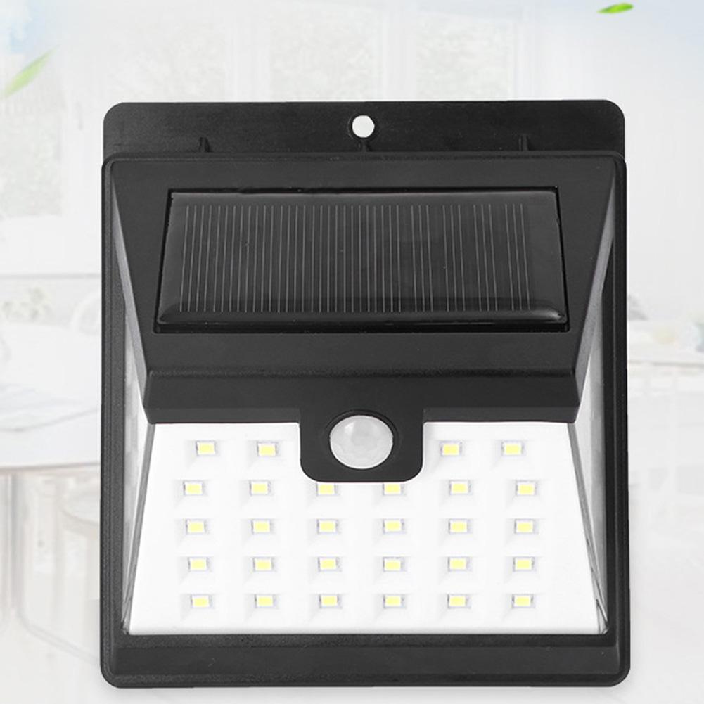 Solar Light LED Body Sensor Wall Lamp Outdoor Garden Yard Hallway Light White light