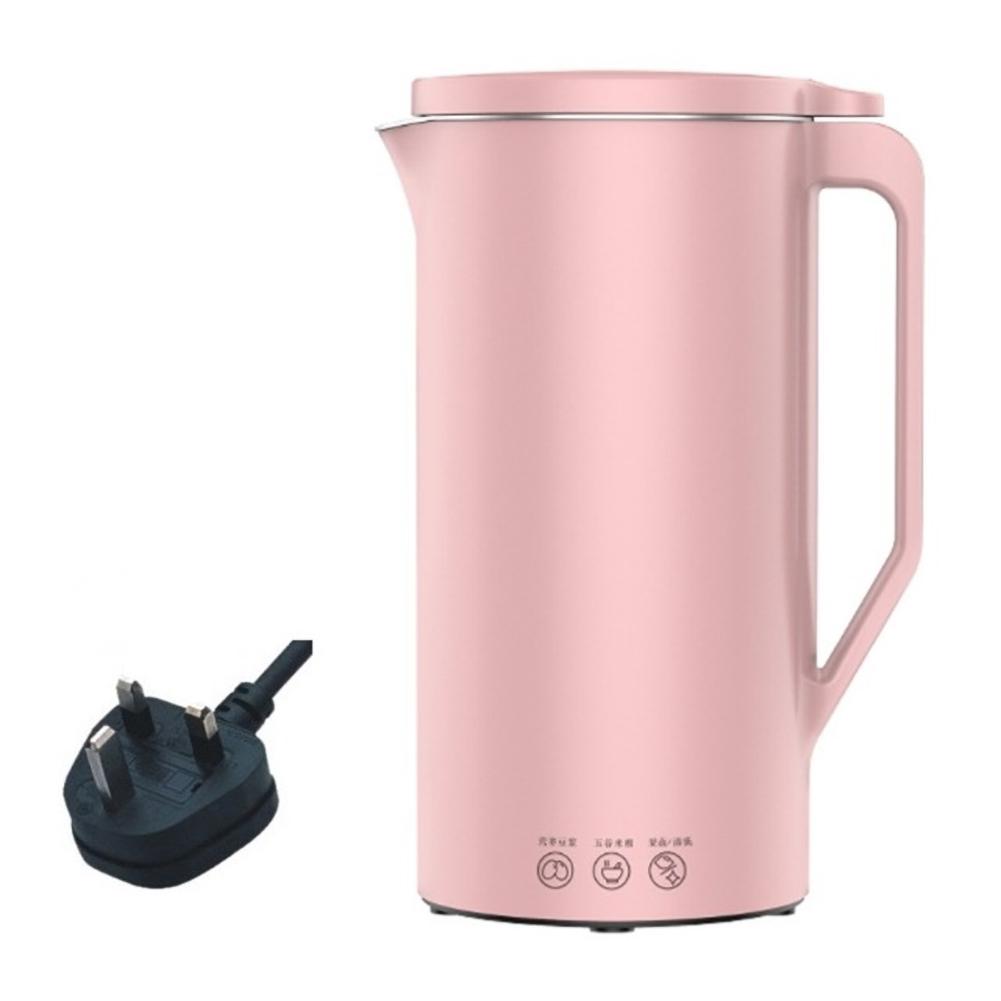 110v/220v Soymilk  Machine Mini Soy  Milk Maker Soya-bean  Milk Electric  Juicer Blender Rice Paste Maker 230v British plug pink