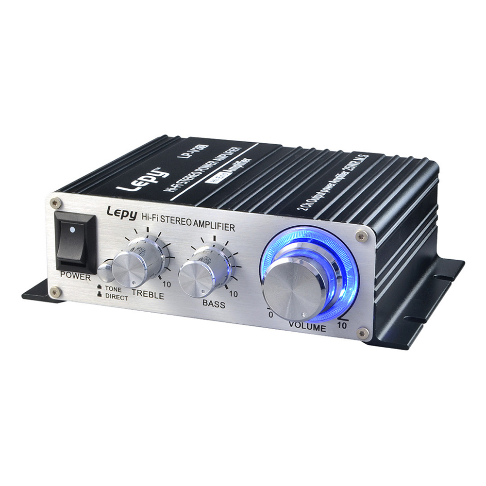 2024A Digital Audio Amplifier Power AMP Hi-Fi Home Stereo Class-T Car DIY Player 2CH RMS 20W BASS For MP3 MP4 iPod Digital Amplifier black_2024A black +5A and accessories