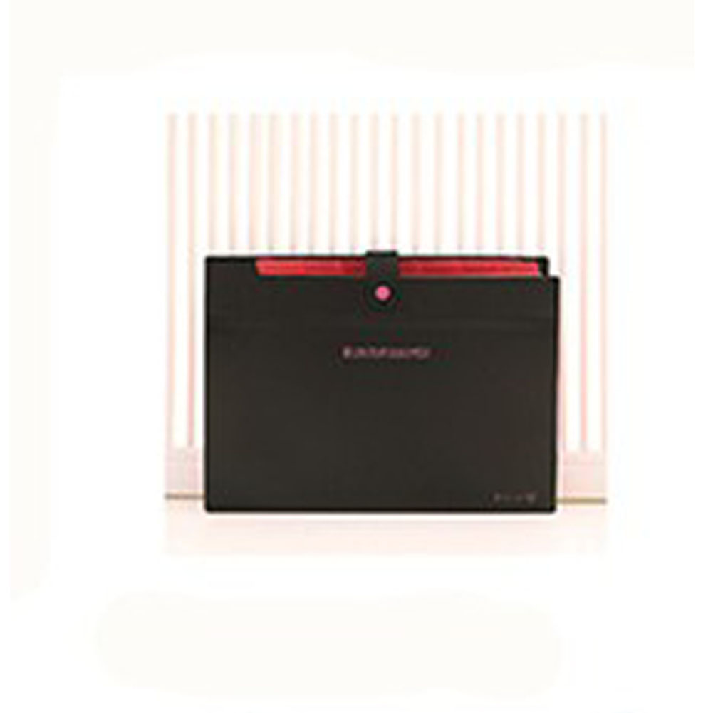 Expandable Documents File Folder Organizer 8-Pocket Folders A4 Size Snap Button Closure  black