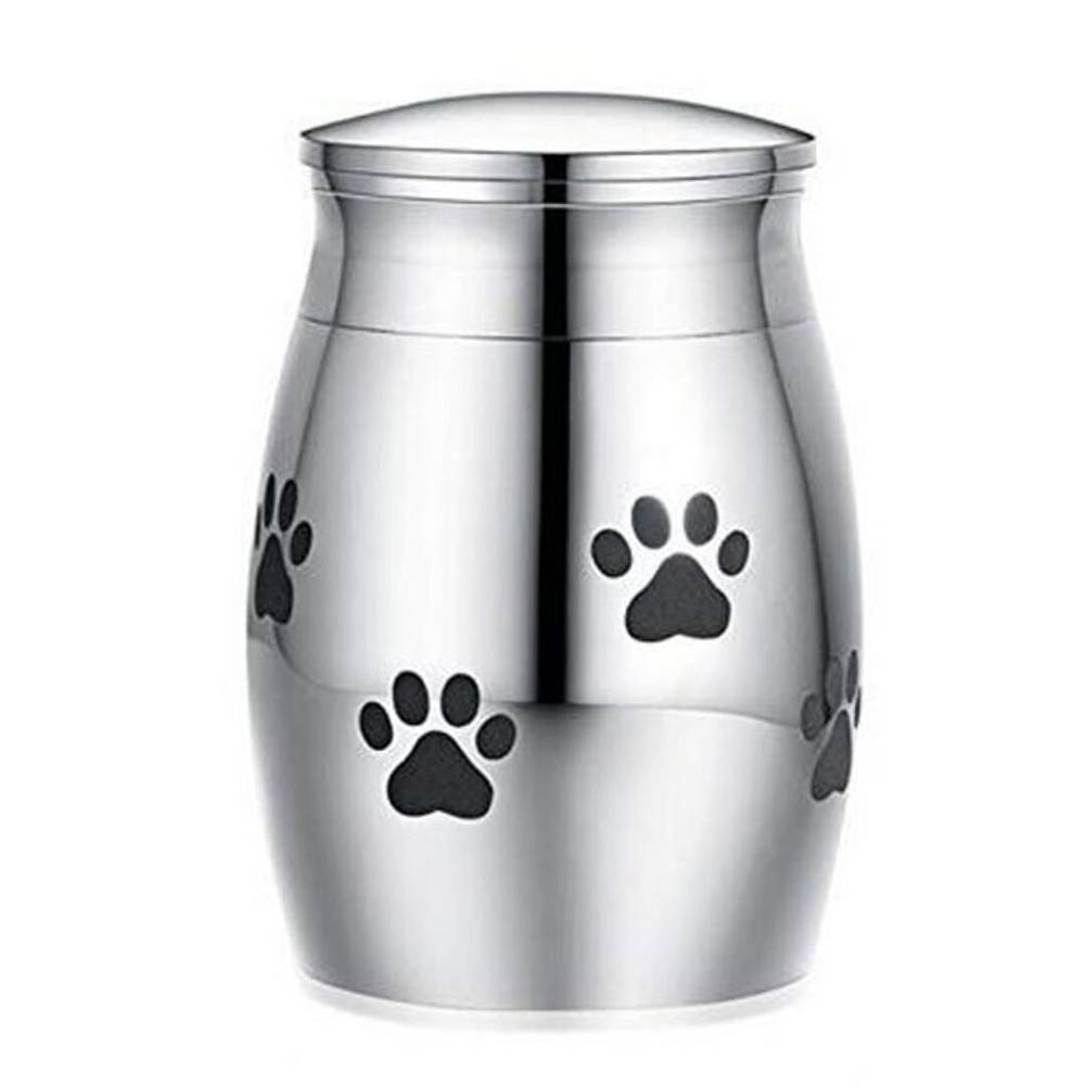 Stainless Steel Funeral Urns with Tree Printing for Pet Dogs Cats Ashes Keepsake Miniature Burial Funeral Urns 40 * 29mm steel circle paw print
