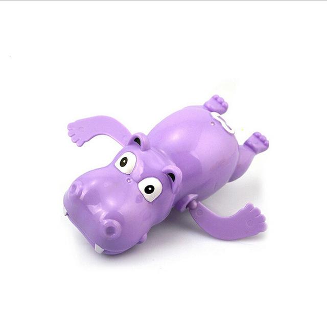 Hippo Swim Toys Baby Educational Toys Hippopotamus Behemoth Clockwork Wind Up Plastic Infant Kids Swimming Toy River Horse 1PCS