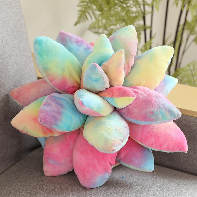PP Cotton Artificial Plant Succulent  Pillow Household Decorative Ornaments Colorful Succulent