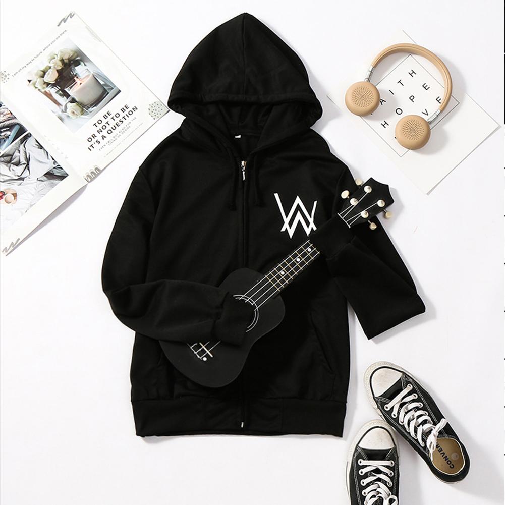 Men Women DJ Coat Sweatshirts for Autumn Winter  Wear black_XL