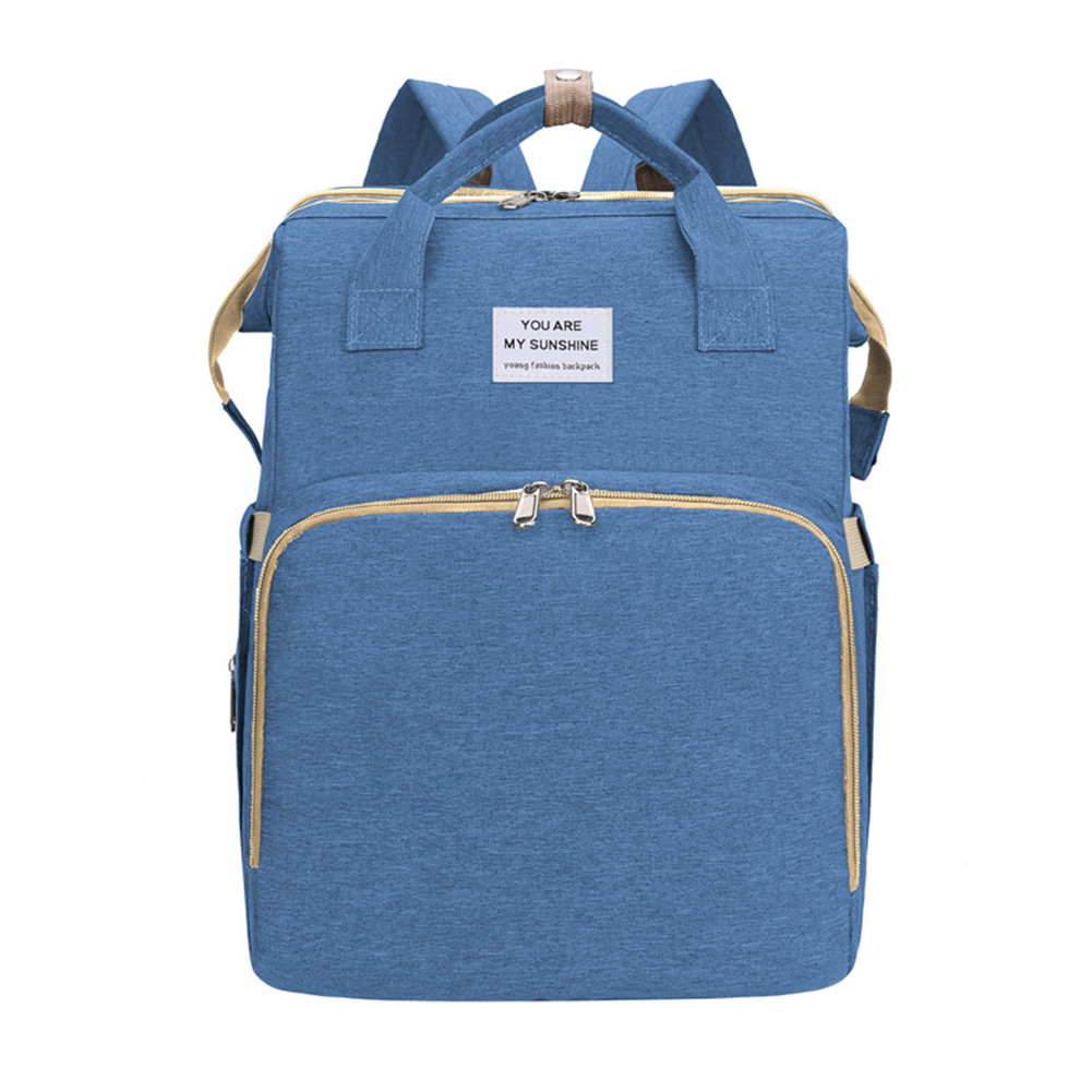 Mummy Bag Extendable Baby Folding Bed Multifunctional Backpack blue