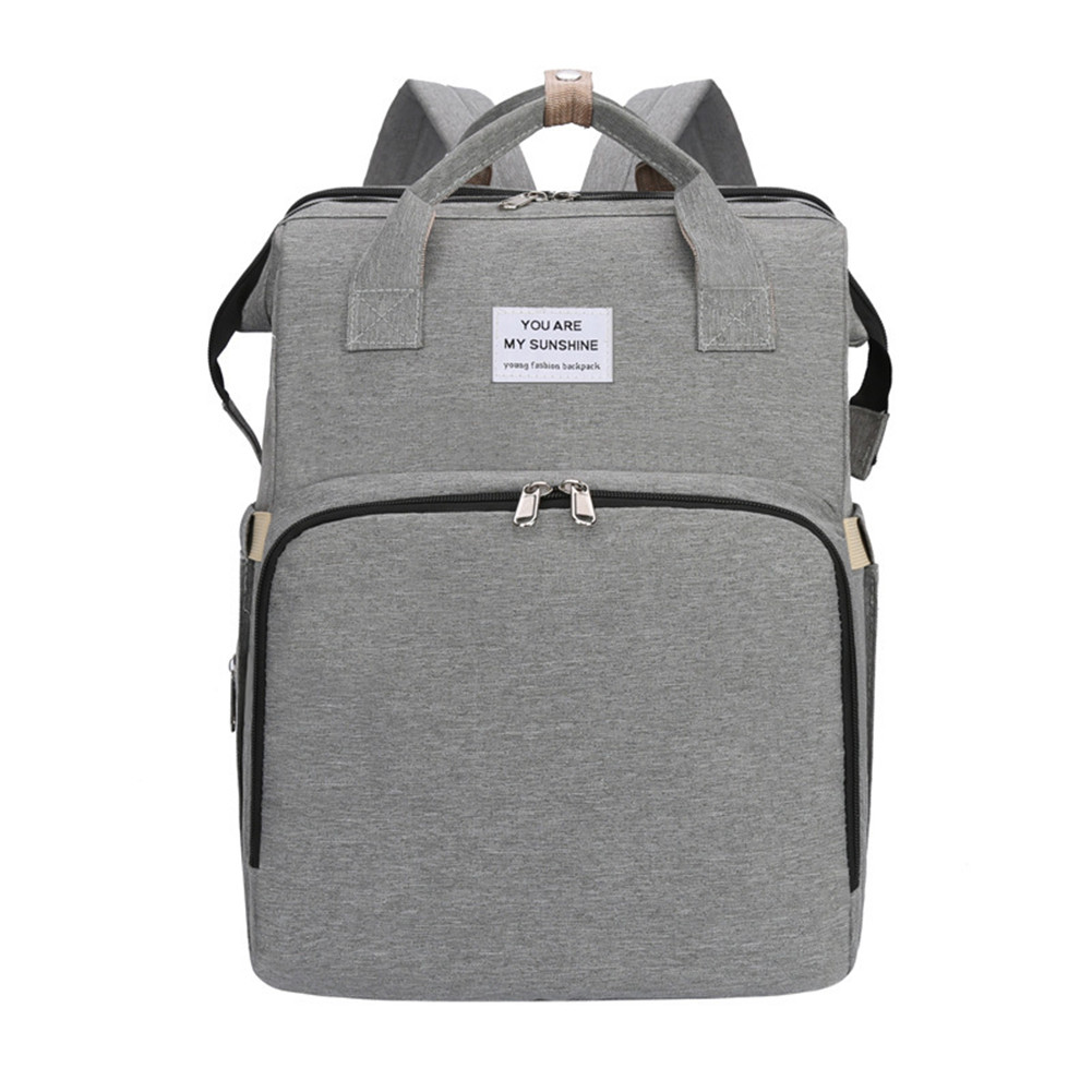 Mummy Bag Extendable Baby Folding Bed Multifunctional Backpack  gray