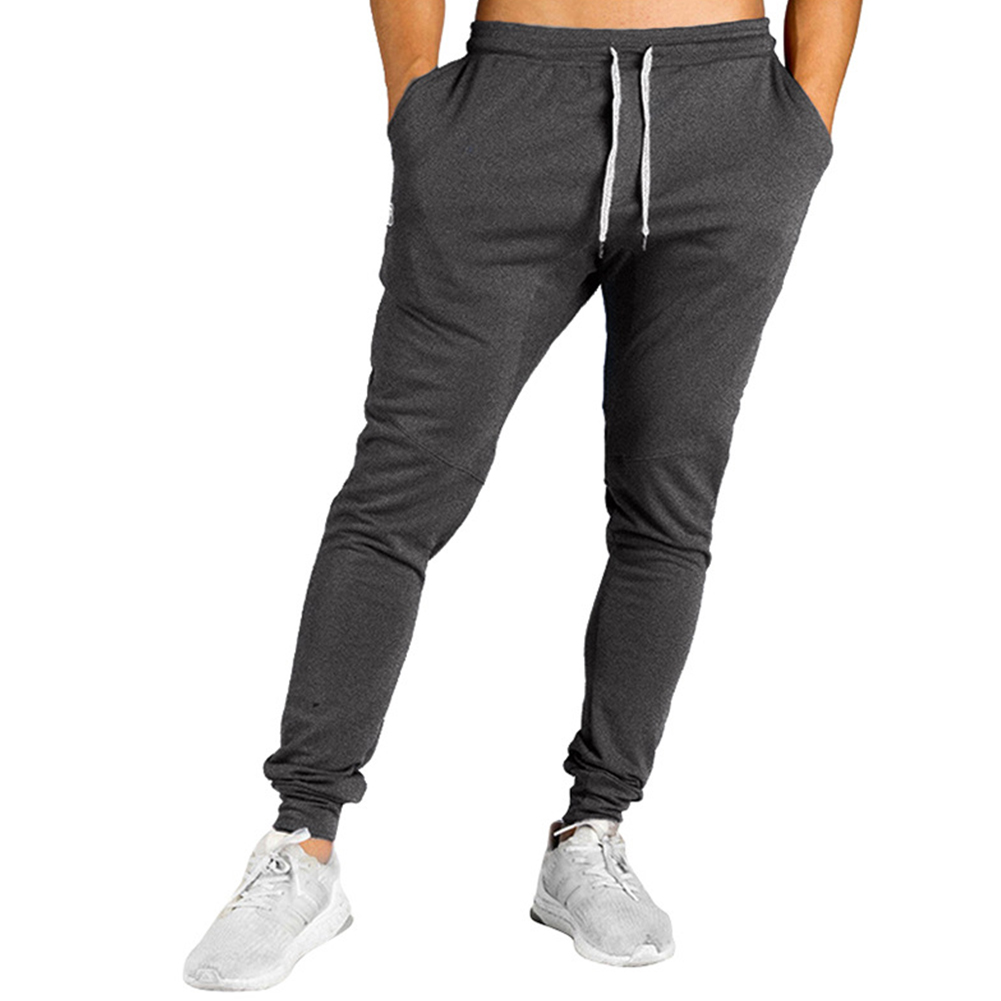 Men All-matching Trousers Loose Sports Style Stripes Design Casual Trousers  black_M