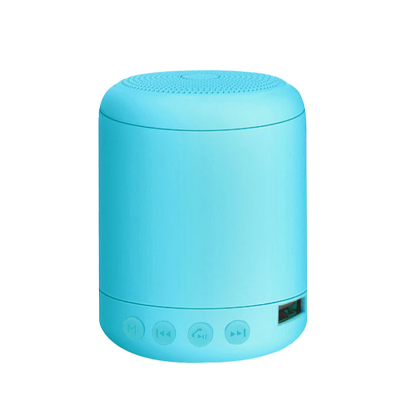 Portable Speaker Bluetooth4.2 Mini Wireless Speaker Small Sound Box Built-in 400mA Battery Support 32GB TF Card Hands-free Calling Fresh Bright Color  Blue