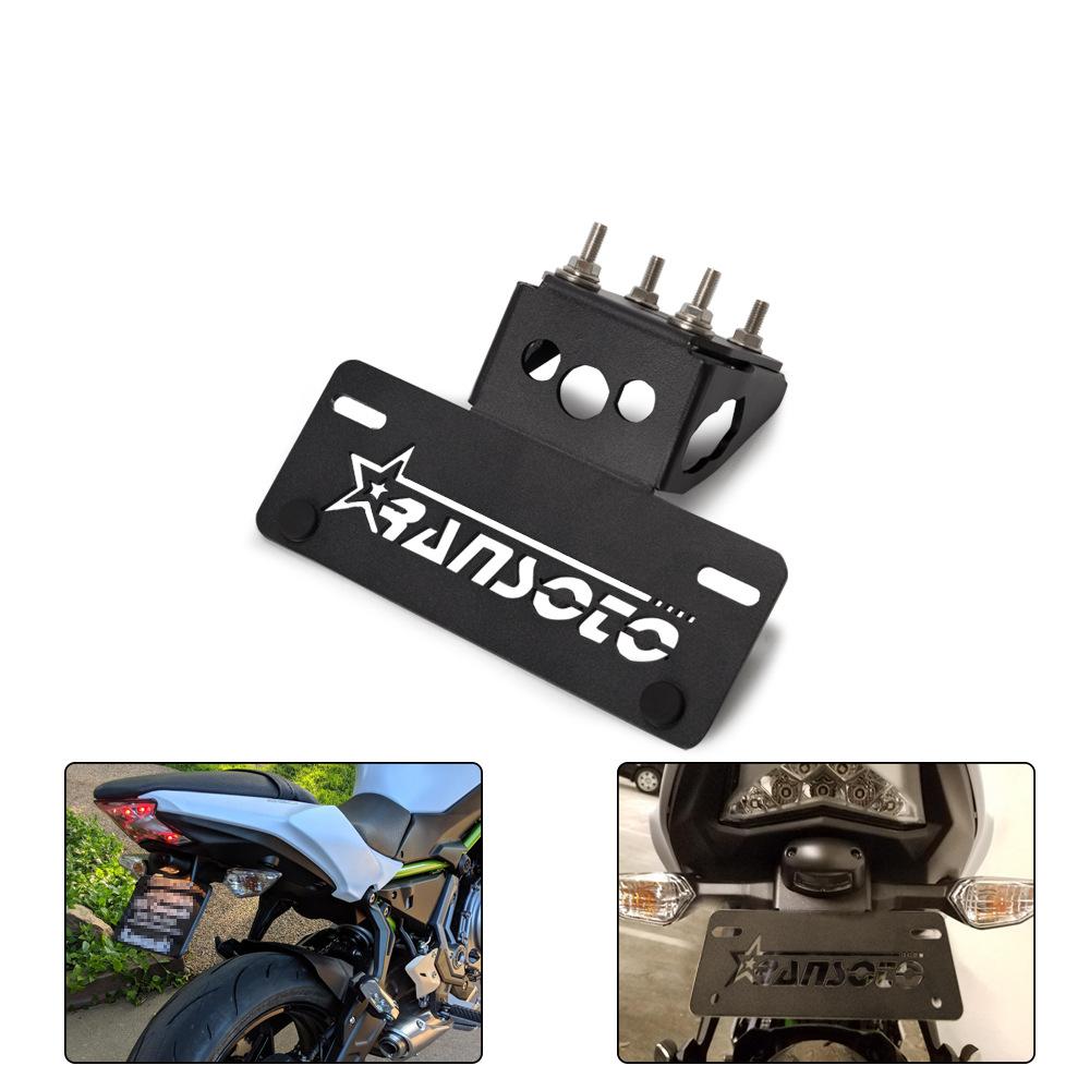 Motorsports Motorcycle License Plate Frame Kit for Kawasaki Z650 Ninja650 2017-2019 black
