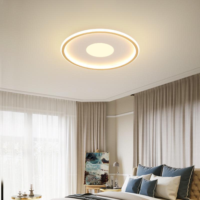 LED Modern Round Ceiling Lights for Bedroom Living Room Decorative Lighting 3 colors dimming